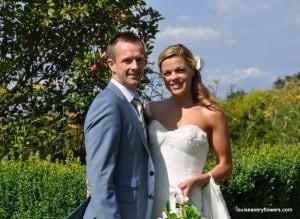Amanda & Matt in the garden at cain manor