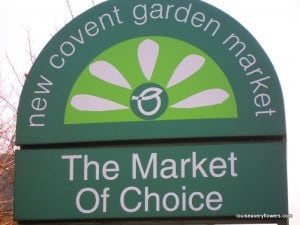 New covent garden market entry sign