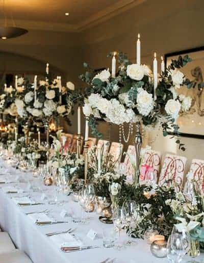 Winter tablescape - photo by Peter Reynolds photography