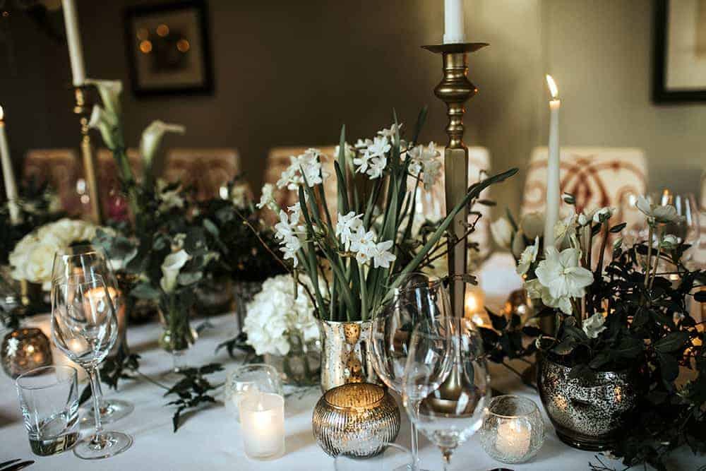 winter tablescape -the kennels, Goodwood