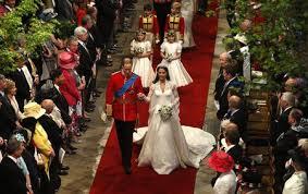 William & Catherine wedding day