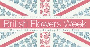 British Flowers Week 2020 Flag logo