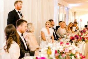 West-Sussex wedding flowers top table speeches