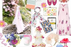 Floral mood board