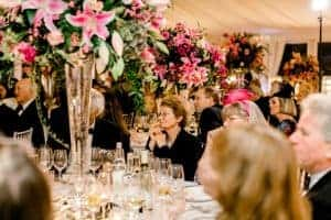 West-Sussex wedding flowers guests table flowers