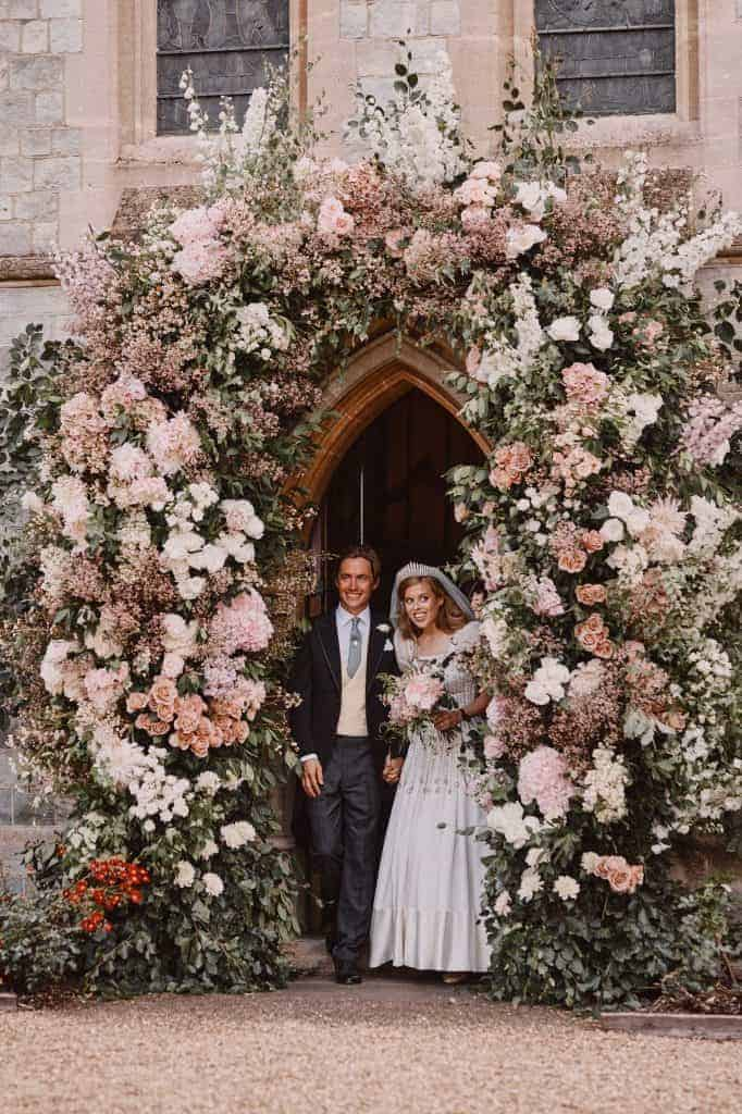 Princess Beatrice & Edoardo Wedding day church floral arch