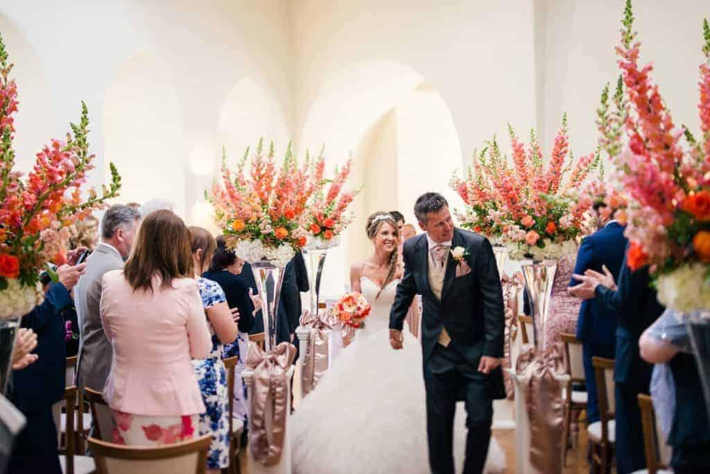 Wedding Ceremony in the lantern Hall Farnham Castle Weddings