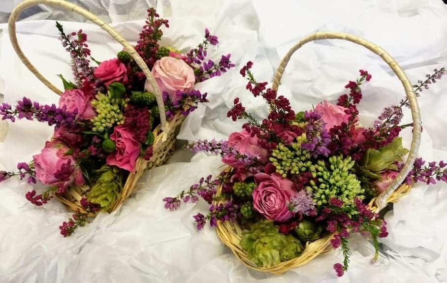 Flower-Girl baskets of flowers
