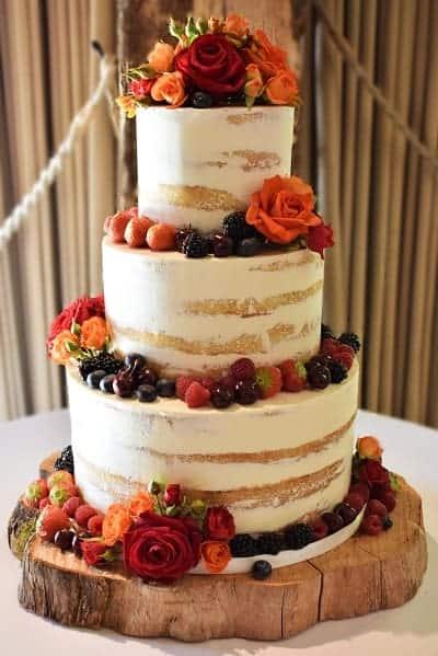 Tartufi Cakes - semi naked cake - Bury court