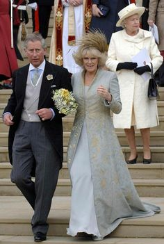 Charles and Camilla Wedding with Queen Elizabeth II
