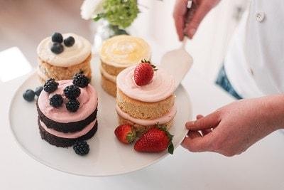 Tartufi wedding cake flavours