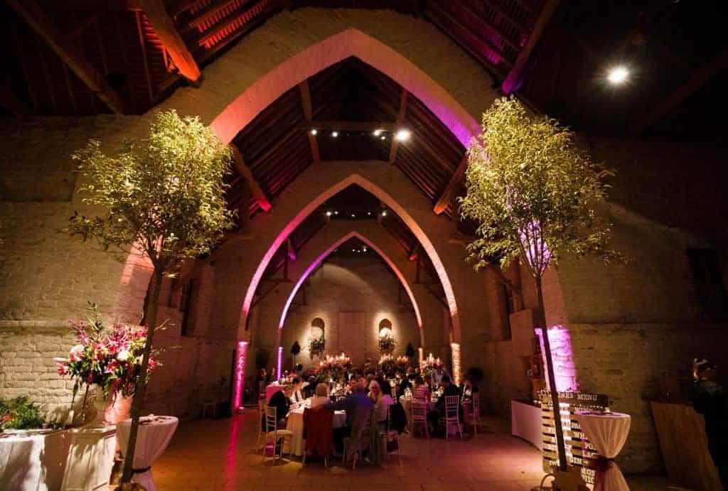 Tithe Barn, Petersfield - evening wedding reception
