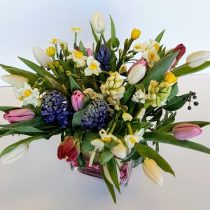 spring flower gift bouquet