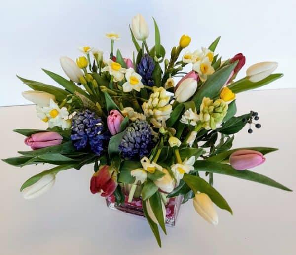 spring flower gift bouquet