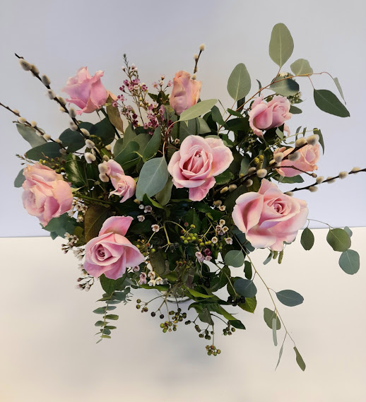 Dozen dusky pink rose bouquet