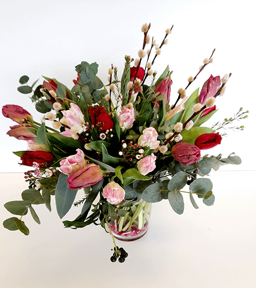 Hampshire Mother's Day flowers Online Flower Shop, Tulip Bouquet - Tonal Mixed Colours