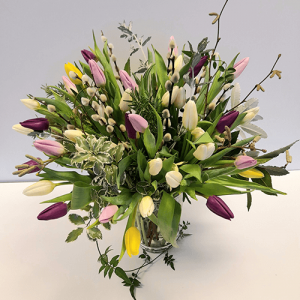 Mixed Colour Tulip Bouquet