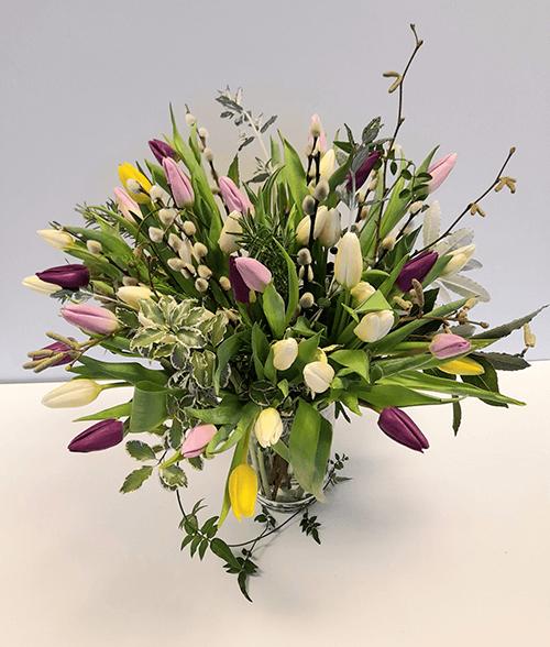 Mixed Colour Tulip Bouquet