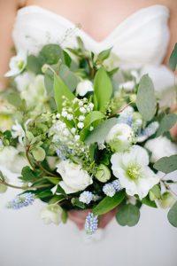spring white brides bouquet