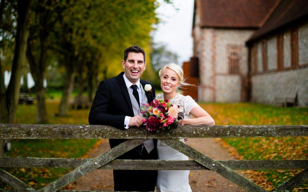 Hampshire Florist – Celebrating the season with colourful autumn wedding flowers for Natalie and Stuart